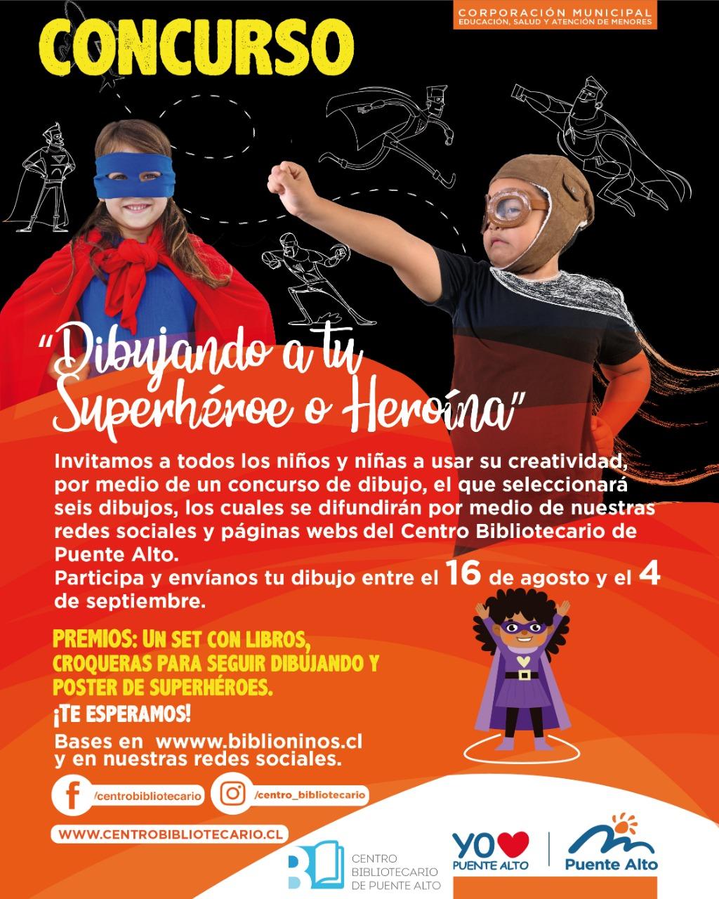"Concurso ""Dibujando a tu Superhéroe o heroína"" [Bases]"